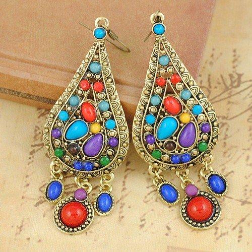 E1242-Bohemian-eardrop-dazzle-colour-water-droplets-popular-earrings-Multicolor-Bohemia-Style-Earrings-Jewelry-Free-Shipping