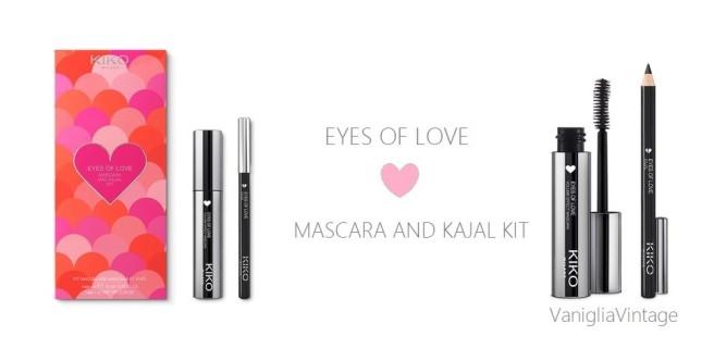 EYES OF LOVE mascara and kajal kit - 01 Black