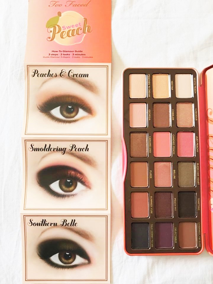 ombretti too faced sweet peach